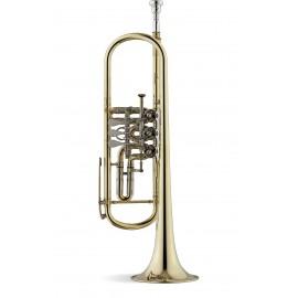 Trompeta Stomvi Titán Rotores Sib Plateada