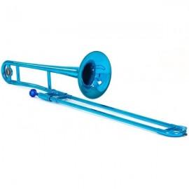 Trombón de Varas Tenor Tromba Azul metalizado